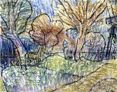 Paul Klee - Landschaft mit gelbem Pferd und violettem Signal 1912