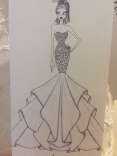 Dress Design Drawing, Dress Design Sketches, Fashion Design Sketchbook, Art Drawings Sketches Simple, Fashion Design Drawings, Fashion Drawing Tutorial, Fashion Figure Drawing, Fashion Drawing Dresses, Fashion Illustration Dresses