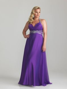 A-line Halter Floor-length Chiffon Plus Size Prom / Evening Dresses Cheap 00201021