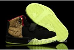 Kids Yeezy Ⅱ Gold - Black/Pink & Lime Green Features Glow in the Dark  Basketball Shoes (Closer Look)