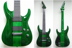 Not a Deftones fan but I saw this Stephen Carpenter ESP in person yrs ago in a shop and was blown AWAY at the finish. I mean, you're talking a gorgeous green. I was impressed. Esp Guitars, Beautiful Guitars, Guitar Amp, Cool Bands, Music Instruments, Gallery, Shopping, Carpenter, Bass