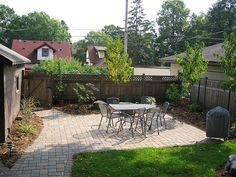great patio for small backyard