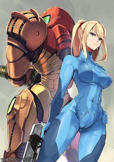 Metroid, Samus Aran (zero suit), by ario: