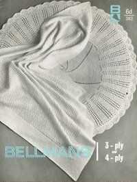 Bellmans 383 - vintage baby knitting pattern - circular round and square shawls