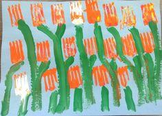 Kindergarten -fork tulips
