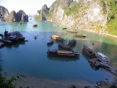 Hạ Long Bay is a UNESCO World Heritage Site, and a popular travel destination, in Quảng Ninh Province, Vietnam.