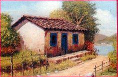 Resultado de imagem para pinturas em telas paisagens rurais