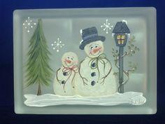 Painted Glass Blocks | Designs by Cheryl Skalski-Hand Painted Glass Blocks | Glass Blocks 2
