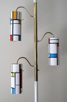 Mondrian Tension Pole Lamp