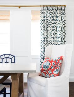 White wingback dining chairs || Studio McGee
