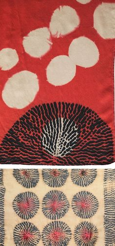Prints, wallpapers and patterns: The taste of Petrol and Porcelain | Interior design, Vintage Sets and Unique Pieces www.petrolandporcelain.com fabulous shibori in red!