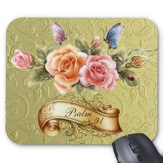 Psalm 91 Flower Mousepad