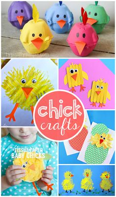 The Most Adorable Chick Crafts for Kids to Make! (Great Easter craft ideas) | CraftyMorning.com