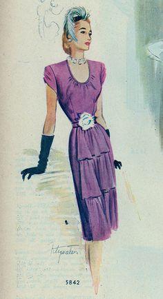 Vintage sewing pattern 5842
