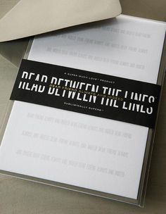 Read Between the Lines - Subliminally Superb Greeting Cards