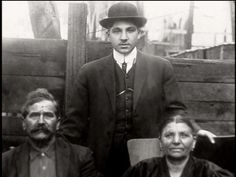 Frank Costello with his parents