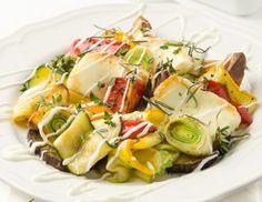 Gegrilltes Gemüse mit Ofenkartoffeln und Halloumi Rezept