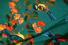 Ptx16/17 924450-3 Tricot Inkjet embroidery print donkergroen