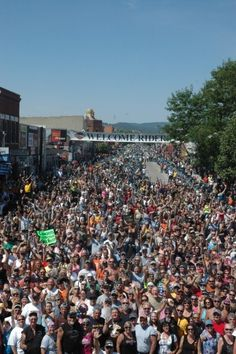 Noon time photo! Main St Sturgis, SD   Sturgis Motorcycle Rally