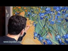 ▶ Art Reproduction (Vincent van Gogh - Irises) Hand-Painted Step by Step - YouTube