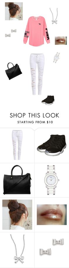 """""""PINK"""" by taviaaaaa on Polyvore featuring NIKE, Paul & Joe, Tissot, Pin Show, Alex Woo, Marc by Marc Jacobs, women's clothing, women, female and woman"""