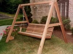 Outdoor : Awesome Wood Porch Swing for Outdoor Outdoor Swing' Yard Swing' Patio Swing With Canopy as well as Canopy Swing' Porch Glider' Porch Swing Frame also Outdoor - Home Improvement and Remodeling Ideas