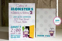 Monsters Inc Boo Birthday Invitation, DIY, Printable
