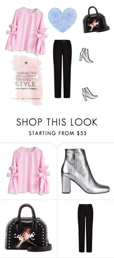 """Bell sleeves shirt + silver boots"" by gabriela2105 ❤ liked on Polyvore featuring Chicwish, Yves Saint Laurent, STELLA McCARTNEY and Acne Studios"