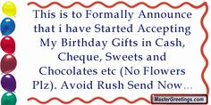 Birthday Quote Greetings