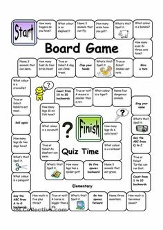 English Language, ESL, EFL, Learn English, Vocabulary and Grammar Board Game - Quiz Time (Easy) you can find similar pins below. We have brought the b. English Activities For Kids, English Games, Lessons For Kids, English Lessons, Learn English, Formal Assessment, English Vocabulary, English Language Learners, Teaching English