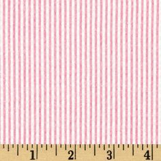 Kaufman Classic Seersucker Stripes Pink & White from @fabricdotcom  From Kaufman Fabrics, this very lightweight woven cotton blend seersucker fabric is light and summery. Made with combed cotton, this versatile fabric is perfect for stylish summer suits, dresses, heirloom projects, children's apparel. It can also be used for lightweight curtains, home décor accents and even bedding accessories.