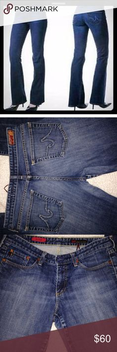"""AG """"The Club"""""""" Flare Stretch Jeans These awesome jeans are in EUC. They measure 16 1/2"""" side to side at top if waist and inseam is 31"""" the rise is 8"""" AG Adriano Goldschmied Jeans Flare & Wide Leg"""