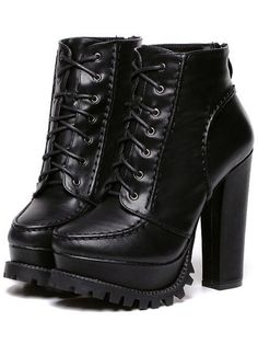 SheIn offers Black Chunky High Heel Hidden Platform Boots & more to fit your fashionable needs. Informations About Shop Black Chunky Read Black Chunky Platform Heels, Chunky High Heels, Black Leather Ankle Boots, Black High Heels, High Heel Boots, Black Boots, Heeled Boots, Chunky Heel Boots, Ankle Booties