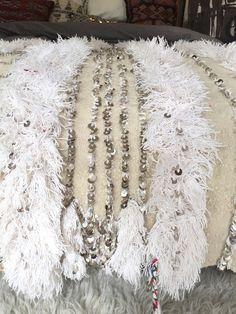 Moroccan wedding blanket MELISSA Vintage Berber by SunnyHomeStory
