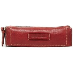 Frye Artisan Pen Case (£29) ❤ liked on Polyvore featuring home, home decor, office accessories, burnt red, frye, zipper pencil case, leather pencil pouch, zipper pencil pouch and leather pen case