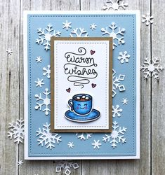 Hi there! It's time for this week's Color Throwdown Challenge . We've got some wonderful wintery colors to create with this week and w...