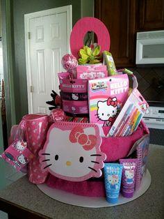 Back of Olivia's Hello Kitty Party Cake