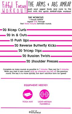Arms and Abs AMRAP Workout | Upper Body Workout | Core Workout | At Home Workouts | Minimal Equipment Workouts | Wild Workout Wednesday | Crossfit Workouts