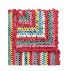 Pretty Cath Kidston Crochet Blanket :) love these colors!