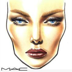 Beautiful Face Chart #makeup #FaceChart