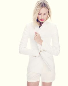 J.Crew Classic Now: The White Blazer, Spring 2015.