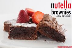 Nutella Brownies! Deliciousness with only 3 ingredients!