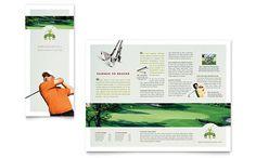 Golf Course & Instruction - Tri Fold Brochure Template Design Sample #layout #design #brochure