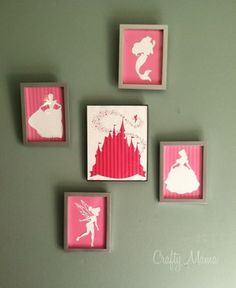 Disney Princess Wall Art - FREE DOWNLOAD!  For all those little princesses out ther.