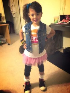 Day Outfit Ideas For School Pictures day at school dress like your fav decade Day Outfit Ideas For School. Here is Day Outfit Ideas For School Pictures for you. Day Outfit Ideas For School 49 pleasant what cloths . Diy Halloween Costumes For Girls, Kids Costumes Girls, Girl Costumes, Kids Outfits, 80s Theme Party Outfits, Outfits Fiesta, Dress Up Day, Kids Dress Up, 80s Fashion Kids