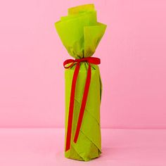 Sweet & Simple Wrapping Ideas: Wine Wrap (via Parents.com)
