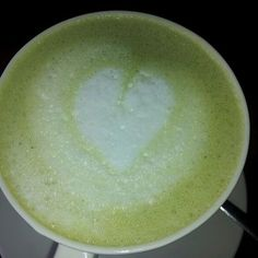 Matcha Hot Chocolate from Chococrepe - made with melted Valrhona white chocolate