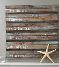 live in the sunshine,   swim in the sea,   drink in the wild air. ~Emerson