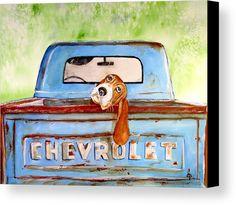 Hound Dog Blues Canvas Print