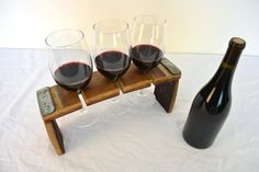 Wine Flight / Glass holder V1 100 retired by winecountrycraftsman